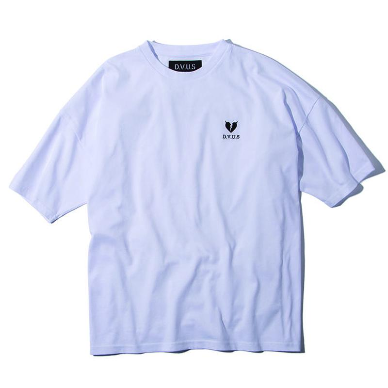 Deviluse Heartaches Big T-shirts WHITE