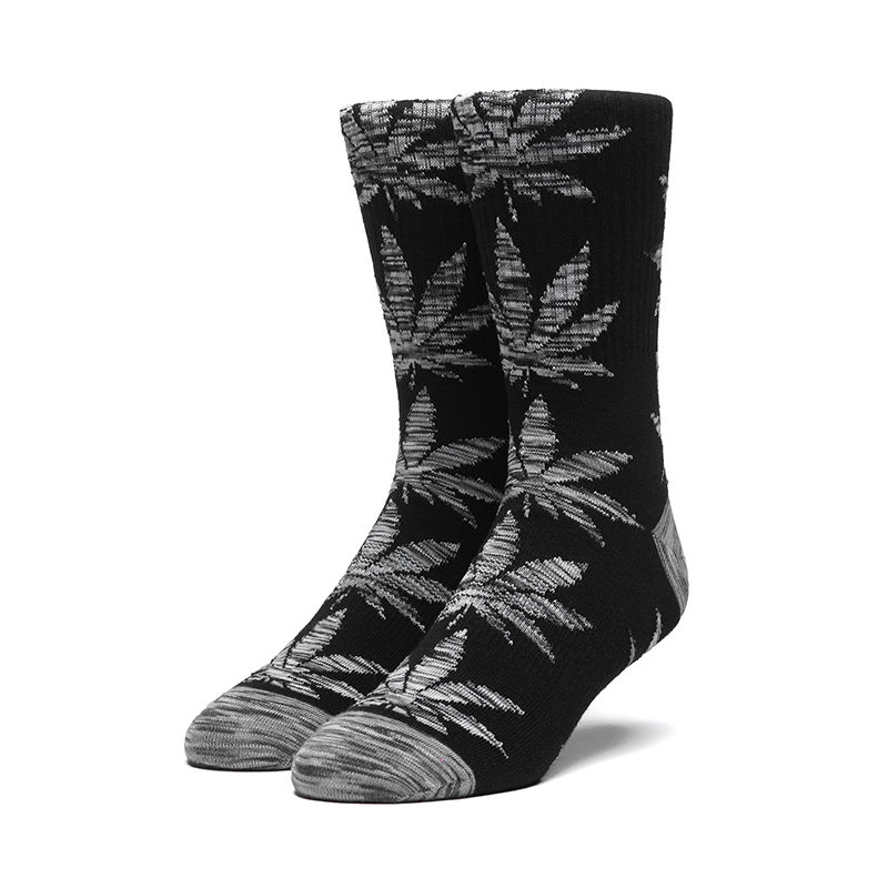 HUF PLANTLIFE MELANGE LEAVES SOCK BLACK