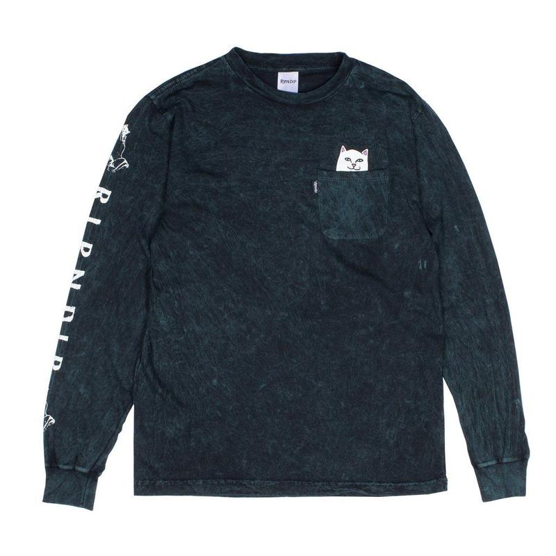 RIPNDIP Lord Nermal Pocket L/S Hunter Mineral Wash