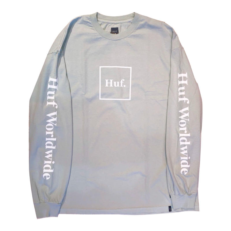 HUF DOMESTIC BOX L/S TEE CLOUD BLUE