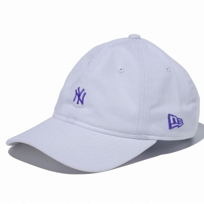 【キッズ】NEW ERA YOUTH 9TWENTY 2トーンストラップ ニューヨーク・ヤンキース ミニロゴ ホワイト × レイクパープル