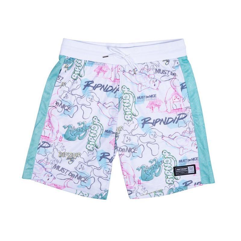 RIPNDIP Goalaso Nylon Soccer Shorts