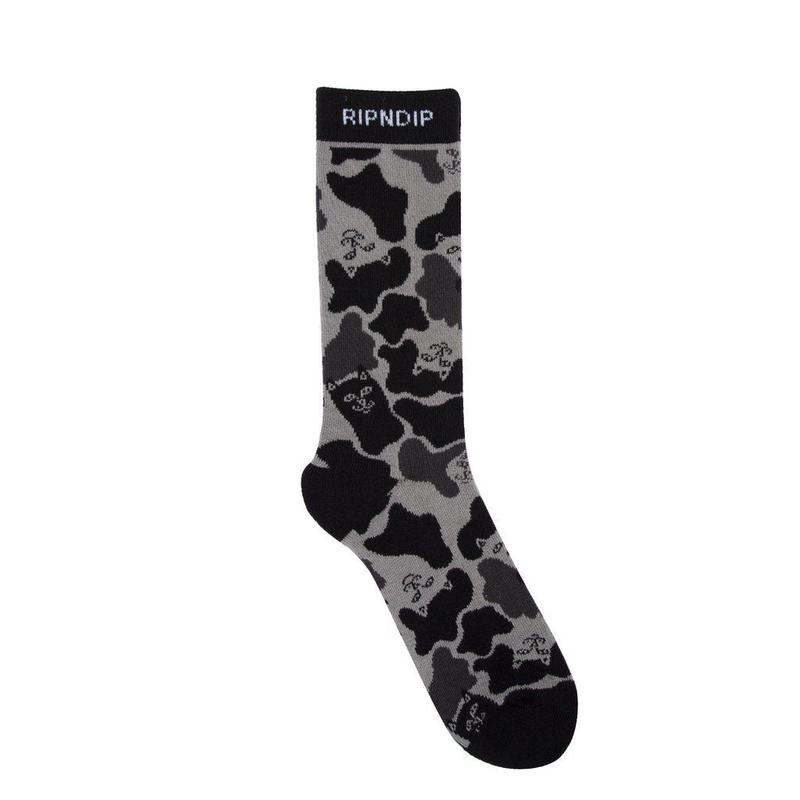 RIPNDIP Nerm Camo Socks BLACK CAMO