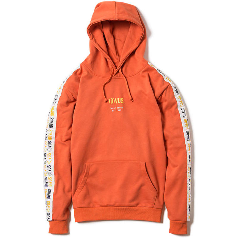 Deviluse Line Pullover Hooded ORANGE