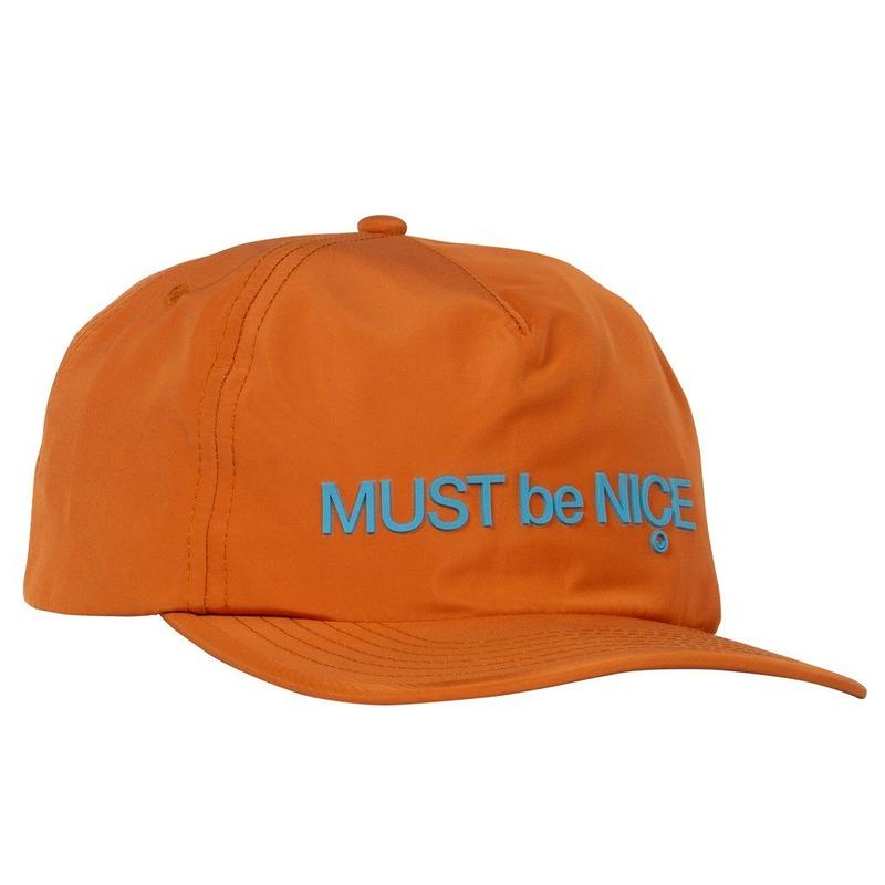 RIPNDIP Blur Nylon 5 Panel Snapback ORANGE