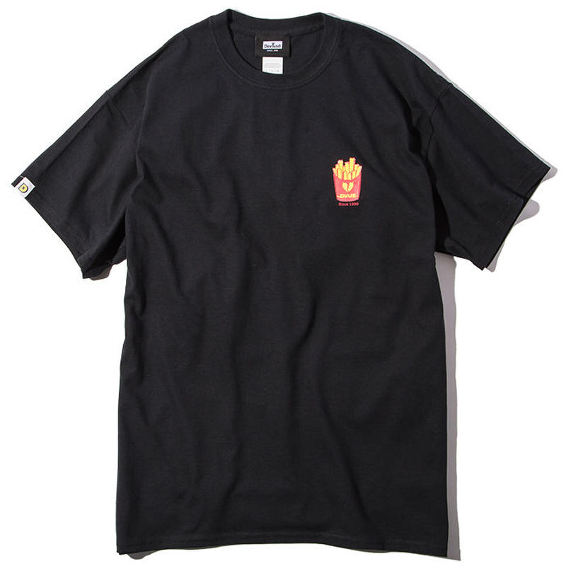 Deviluse Fries T-shirts BLACK