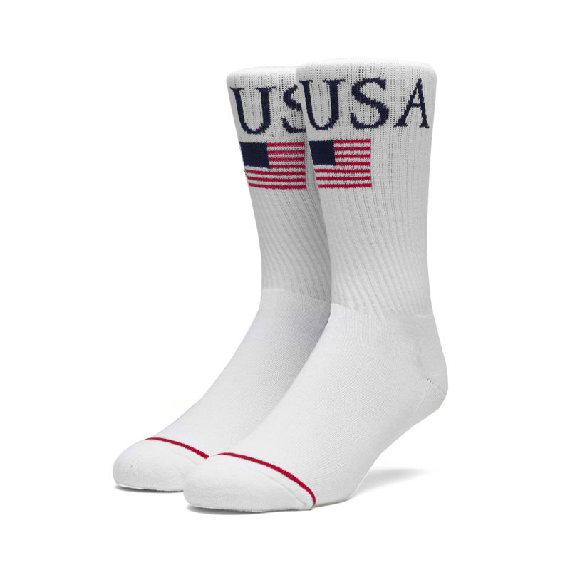 HUF WORLD TOUR CREW SOCKS WHITE