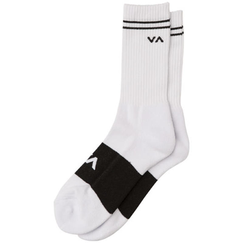 RVCA BASIC BLOCK SOCKS WHITE
