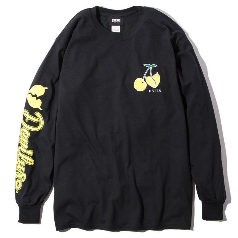 Deviluse Cherry L/S T-Shirts BLACK
