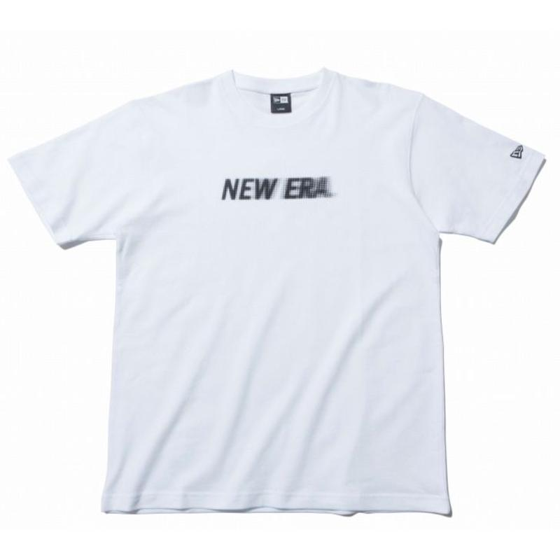 NEW ERA SS COTTON TEE MOTION NEW ERA LOGO WHITE