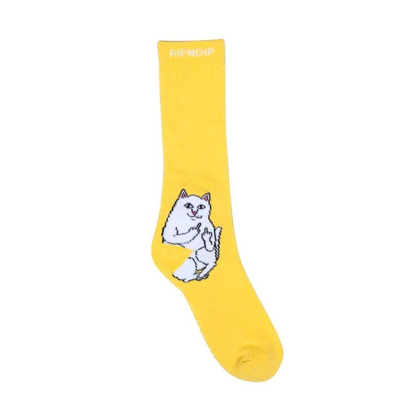 RIPNDIP Lord Nermal Socks YELLOW