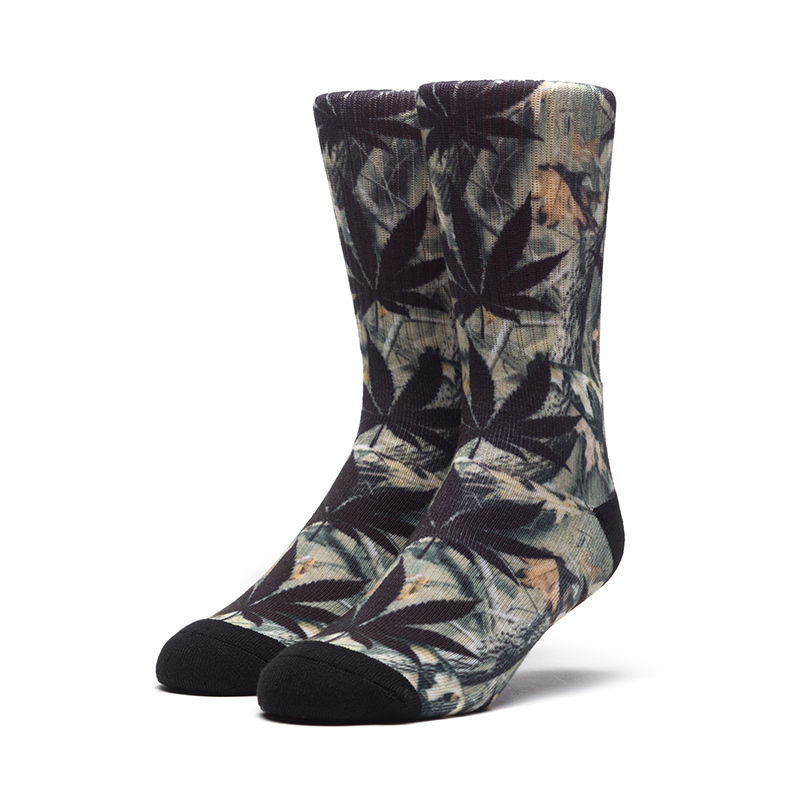 HUF PLANTLIFE DIGI CAMO SOCKS BLACK