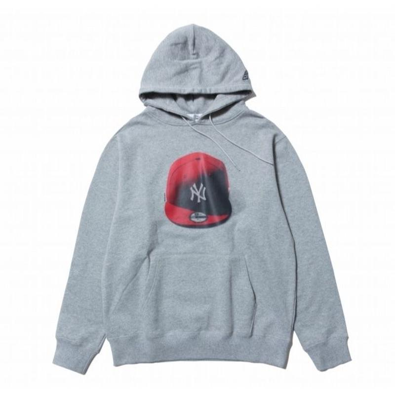 NEWERA PULLOVER HOODIE NEYYAN HARF TONE GRAY/RED