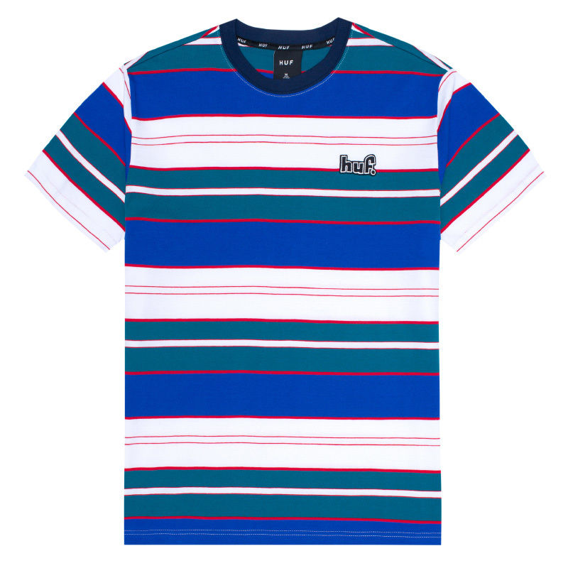 HUF UPLAND SS KNIT TOP INSIGNIA BLUE