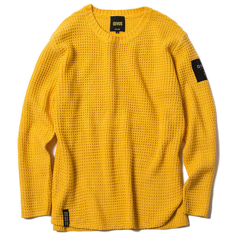Deviluse Knit Crewneck Yellow
