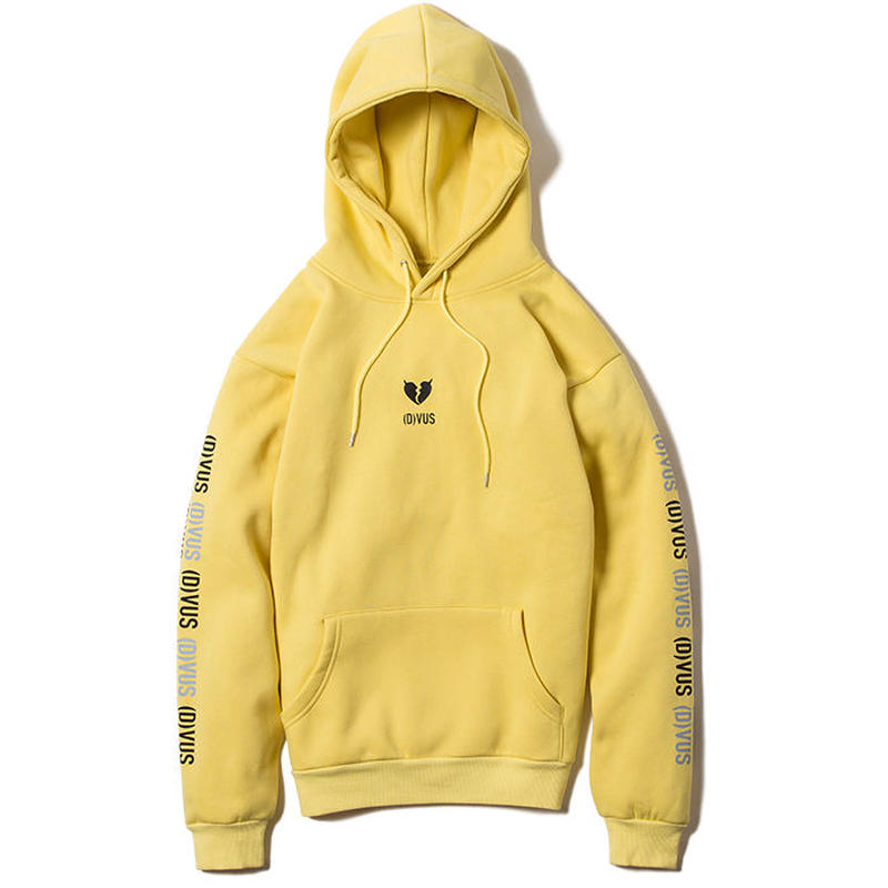 Deviluse Heartaches Pullover Hooded Yellow