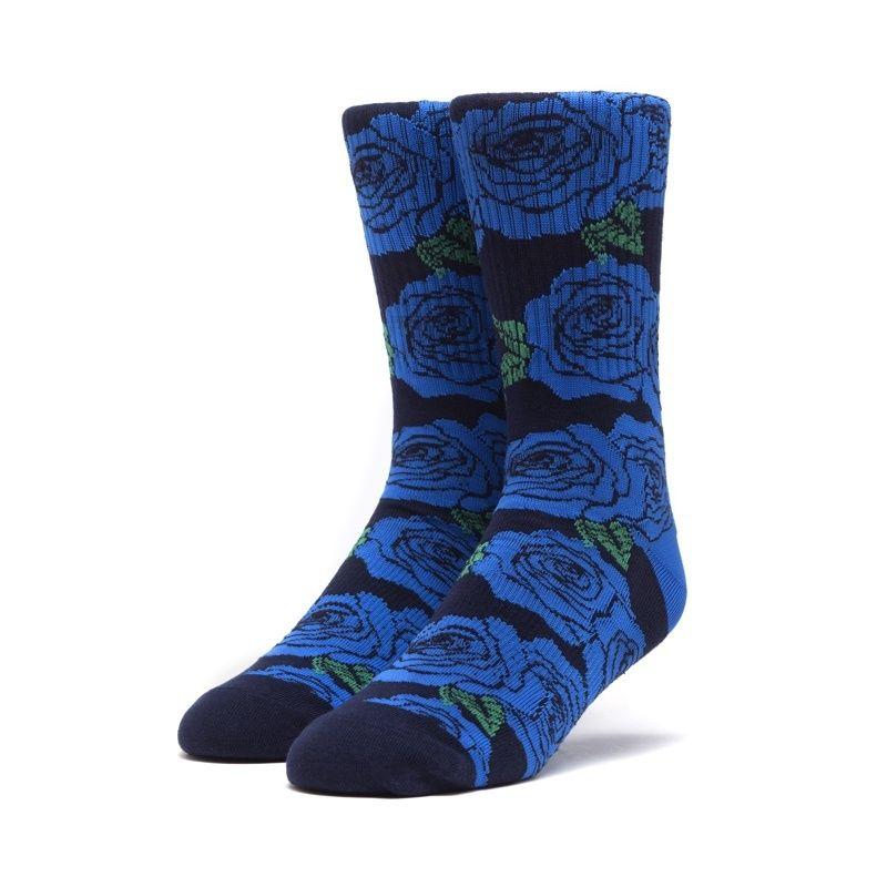 HUF ROSETTE SOCKS BLUE