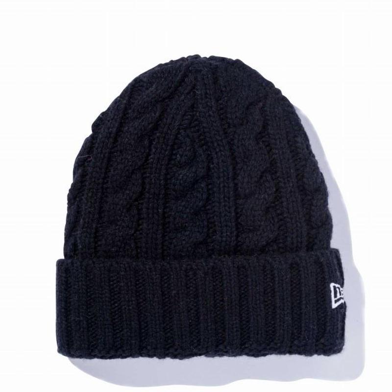 NEWERA ローゲージ カフニット ウールブレンド BLACK