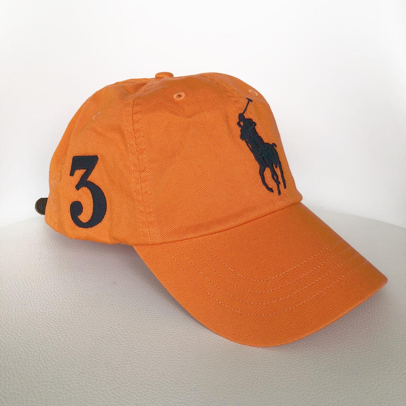 POLO RALPH LAUREN PONY CAP ORANGE