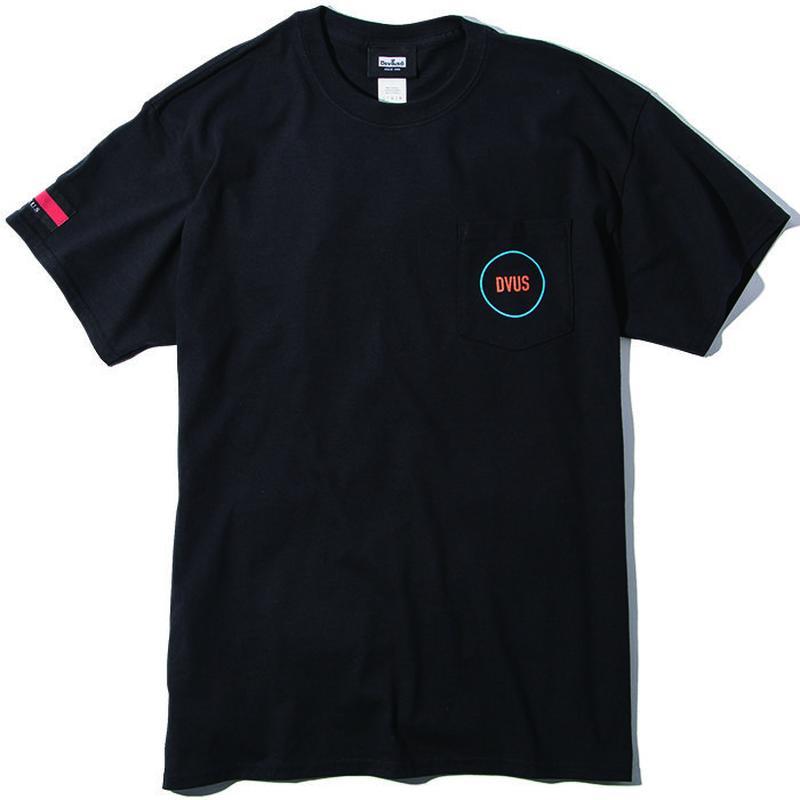 Deviluse Circle Pocket T-shirts BLACK