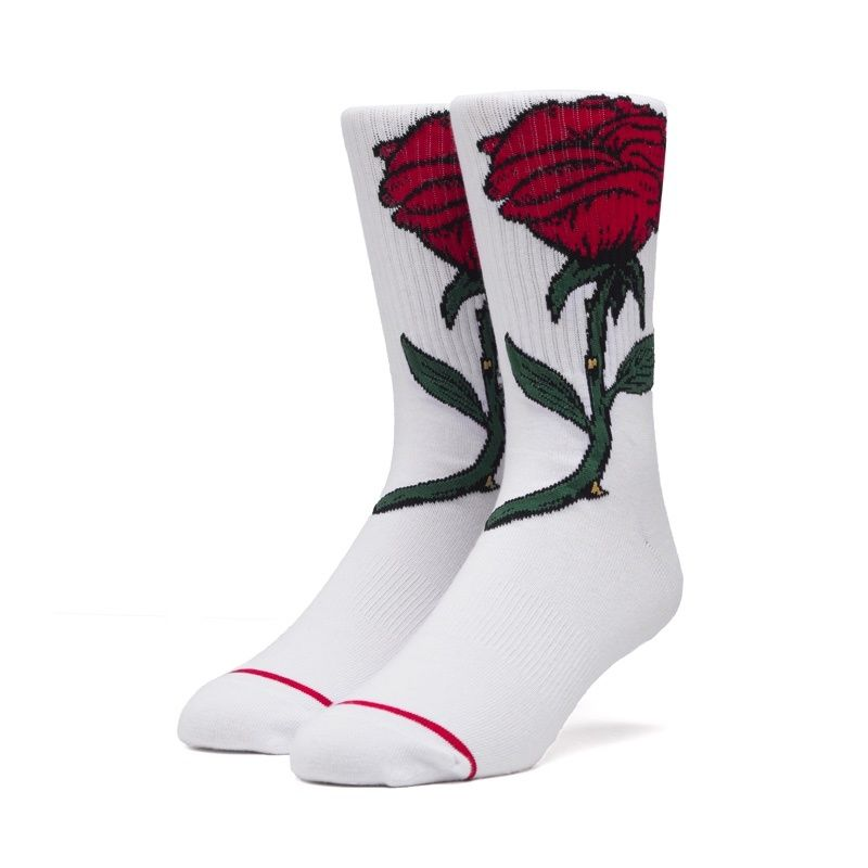 HUF FAREWELL SOCKS WHITE