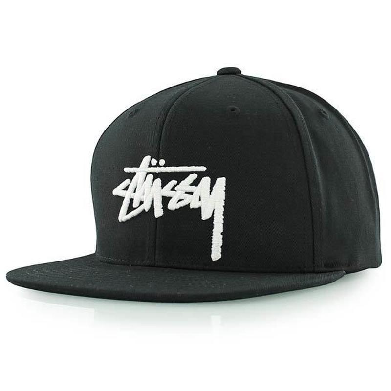 Stussy Stock Logo Cap BLACK