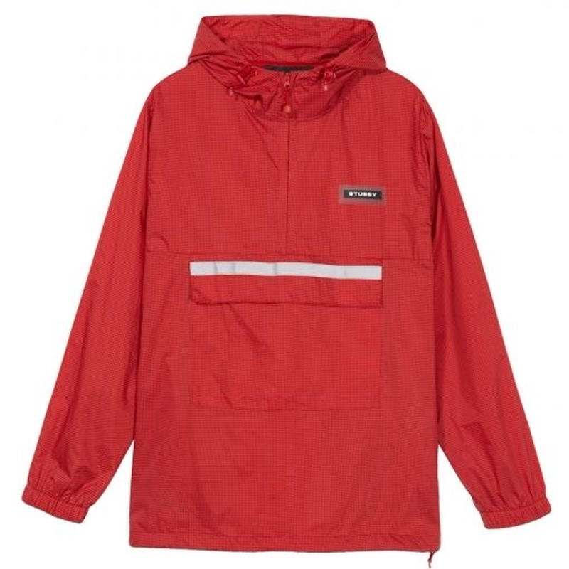 STUSSY Contrast Ripstop Anorak RED