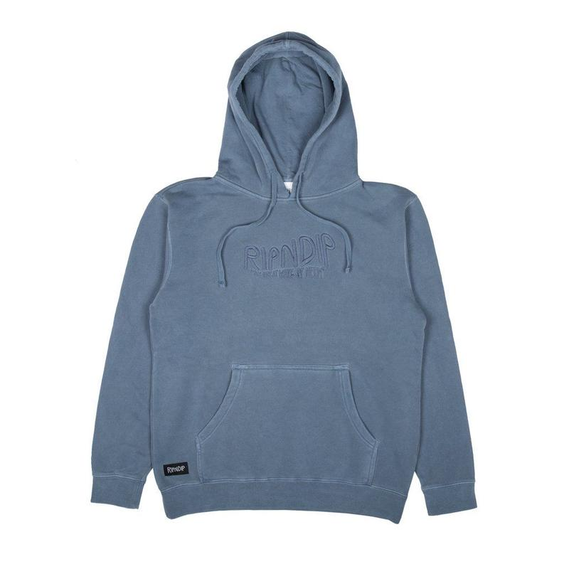RIPNDIP The Great Wave Of Nerm Hoodie Baby Blue