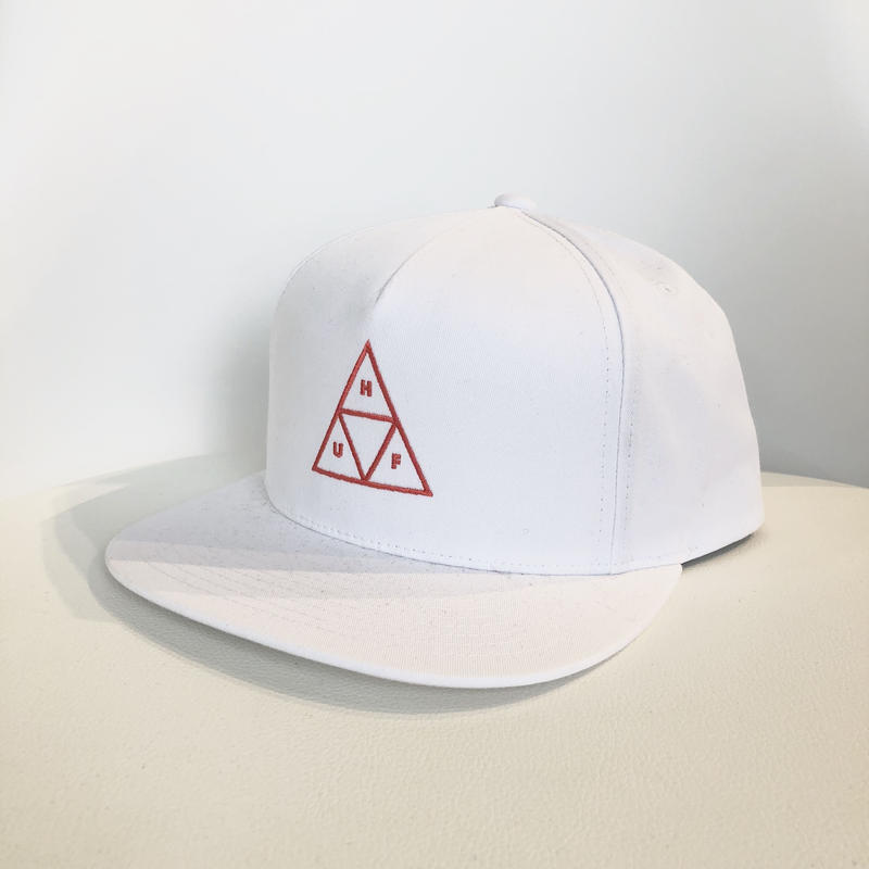 HUF TRIPLE TRIANGLE SNAPBACK WHITE