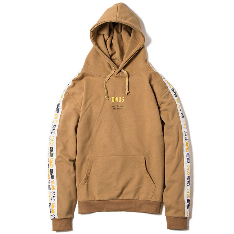 Deviluse Line Pullover Hooded KHAKI