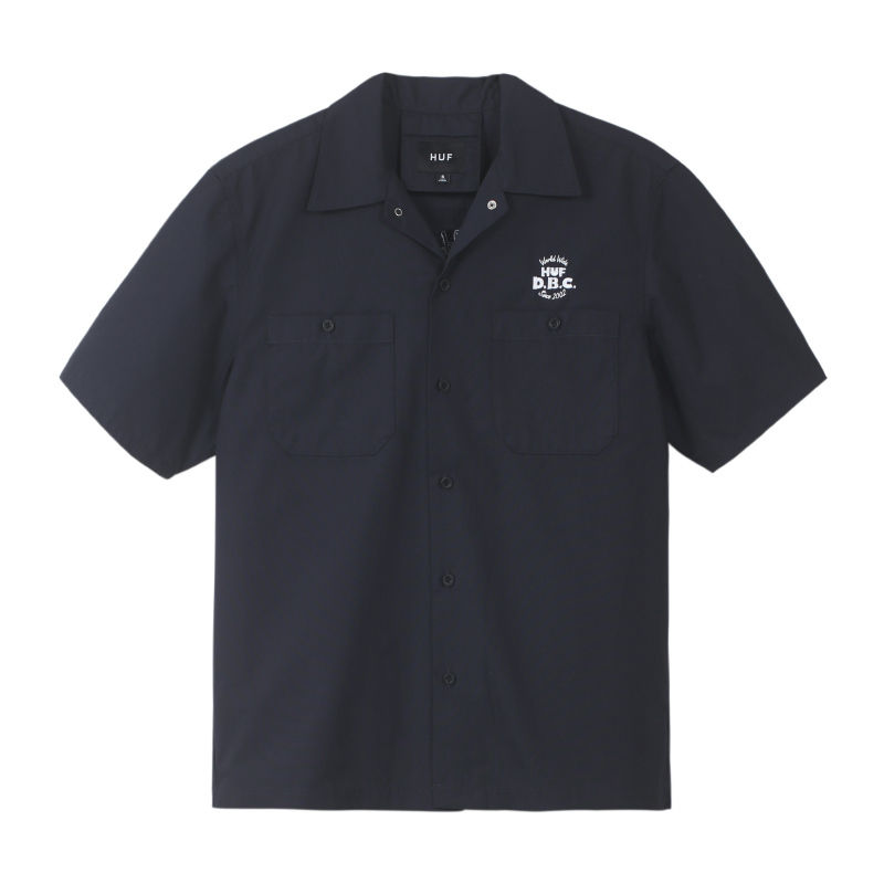 HUF DBC WORK SHIRT OFF BLACK