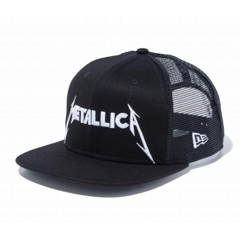 NEW ERA PROBITY METALLICA LOGO MESH CAP BLACK
