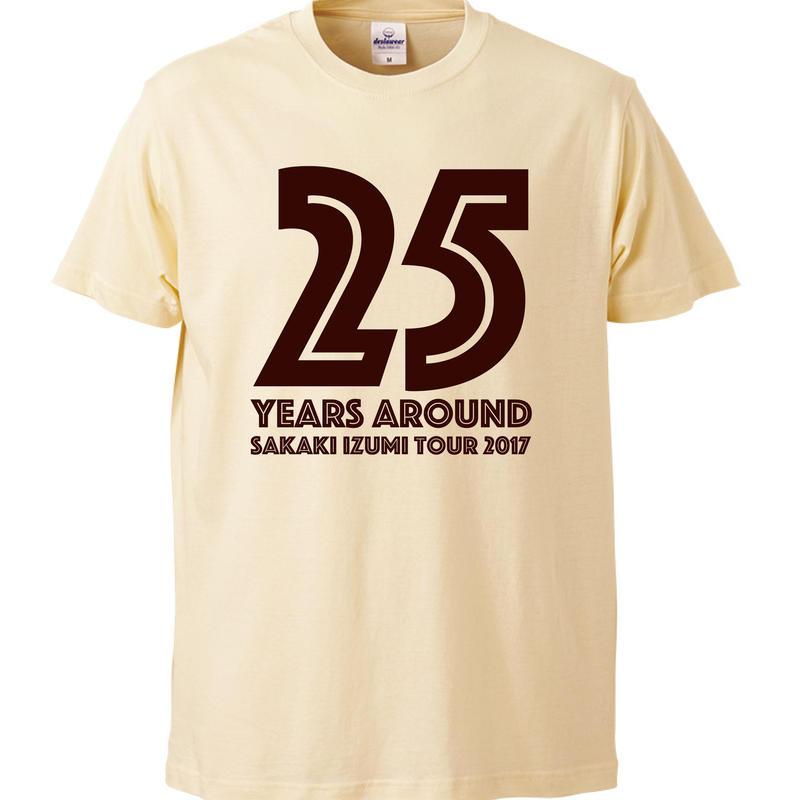 25years around Tシャツ / NATURAL