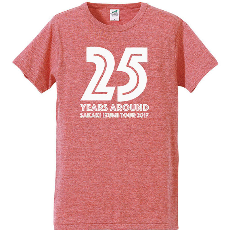 25years around Tシャツ / VINTAGE HEATHER RED