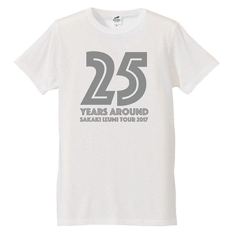 25years around Tシャツ / VANILLA WHITE