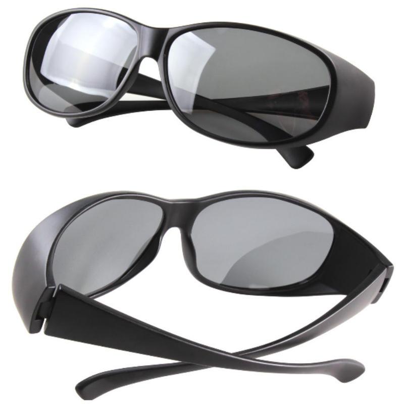 メガネの上から掛けられる 偏光オーバーグラス ANSI Z87.1規格 ケース付き UV400 紫外線カット ドライブ 釣り ゴルフなどに オーバーサングラス