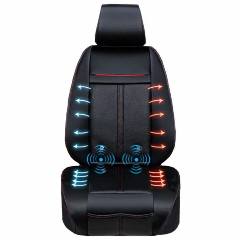 マッサージ&ホット&クールカーシート 静音仕様 1年保証 3段階調節可能なクール機能&ヒーター機能&マッサージ機能付き ホットシート クールシート