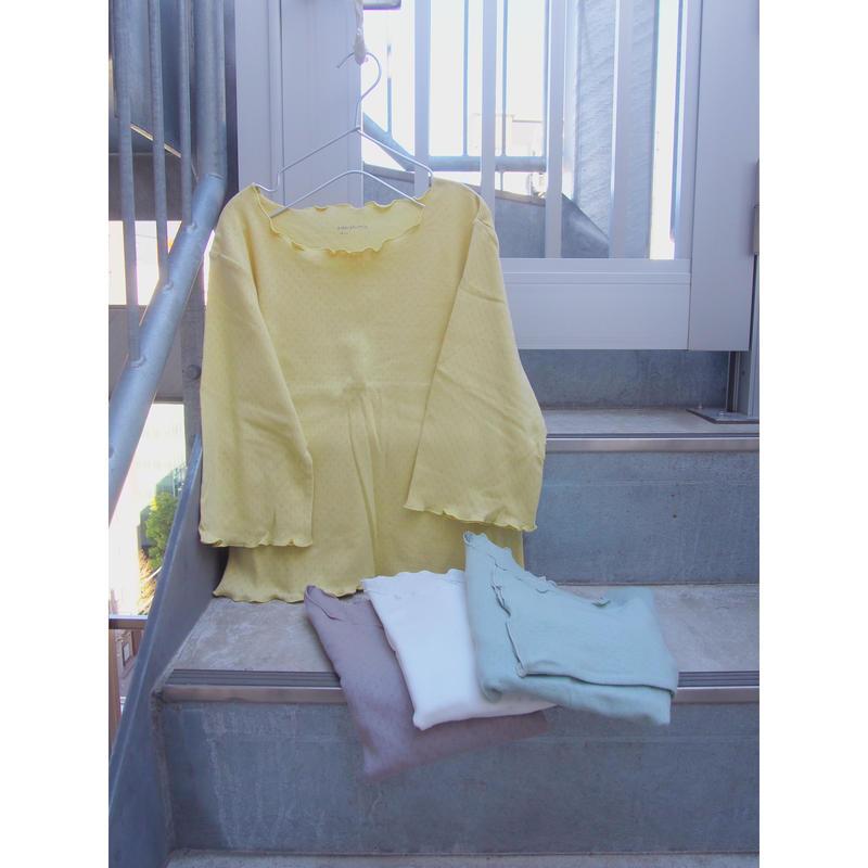 pale cut sew  yellow