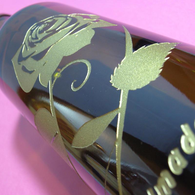 バラのアートボトル