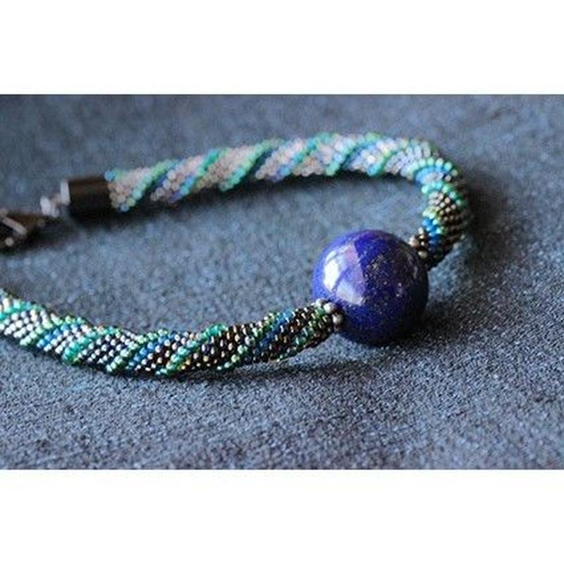羽織紐(男性用)*ラピスラズリ