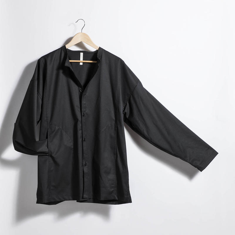 スタンドカラーシャツジャケット BLACK
