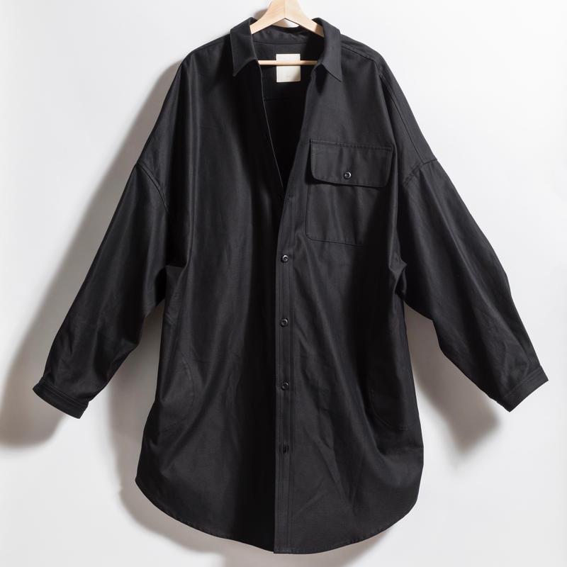 BIGシャツコート BLACK