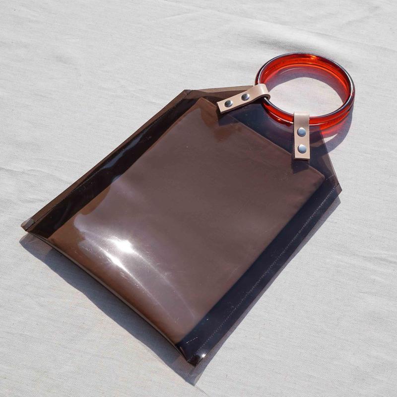 Black PVC Studs Bag