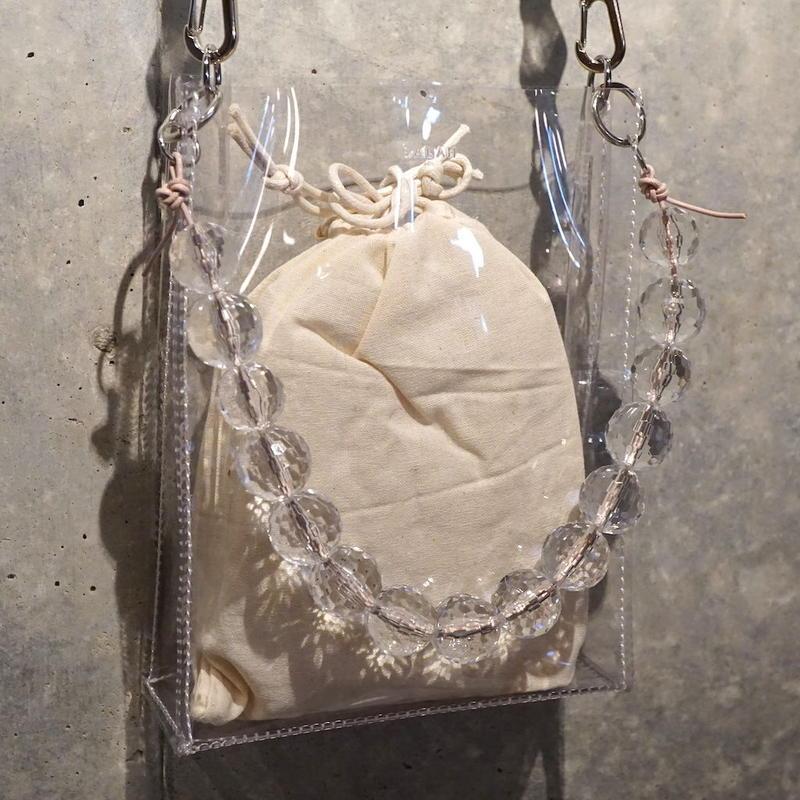 Square PVC Bag -Clear-