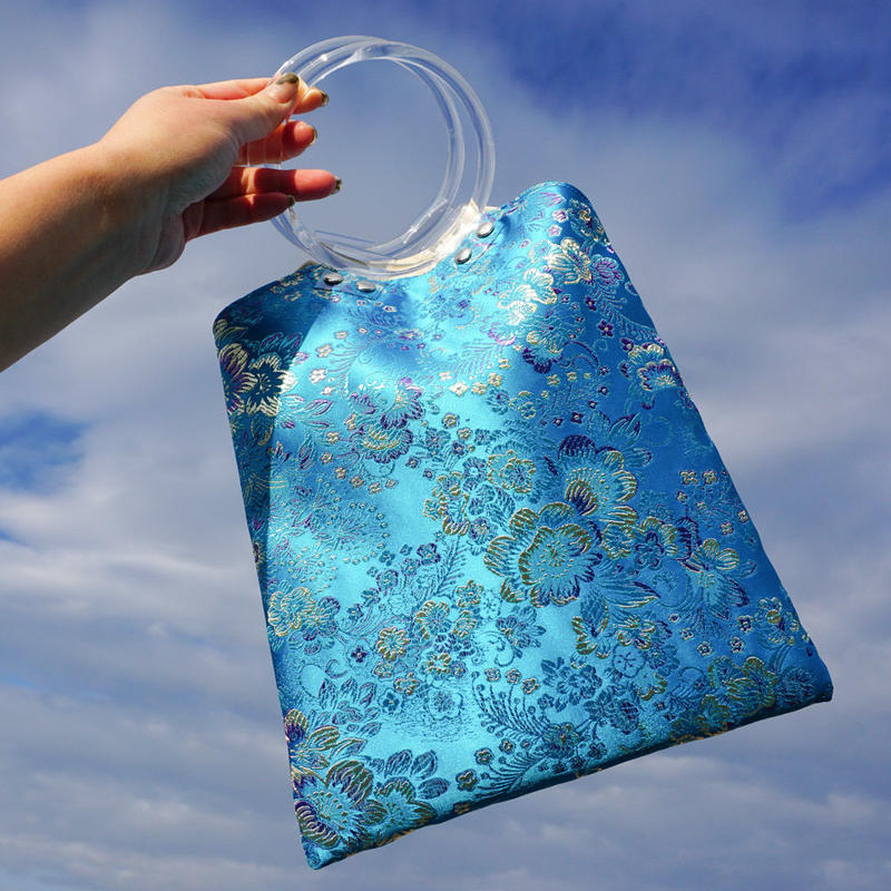 Chinoiserie Handbag -SkyBlue-