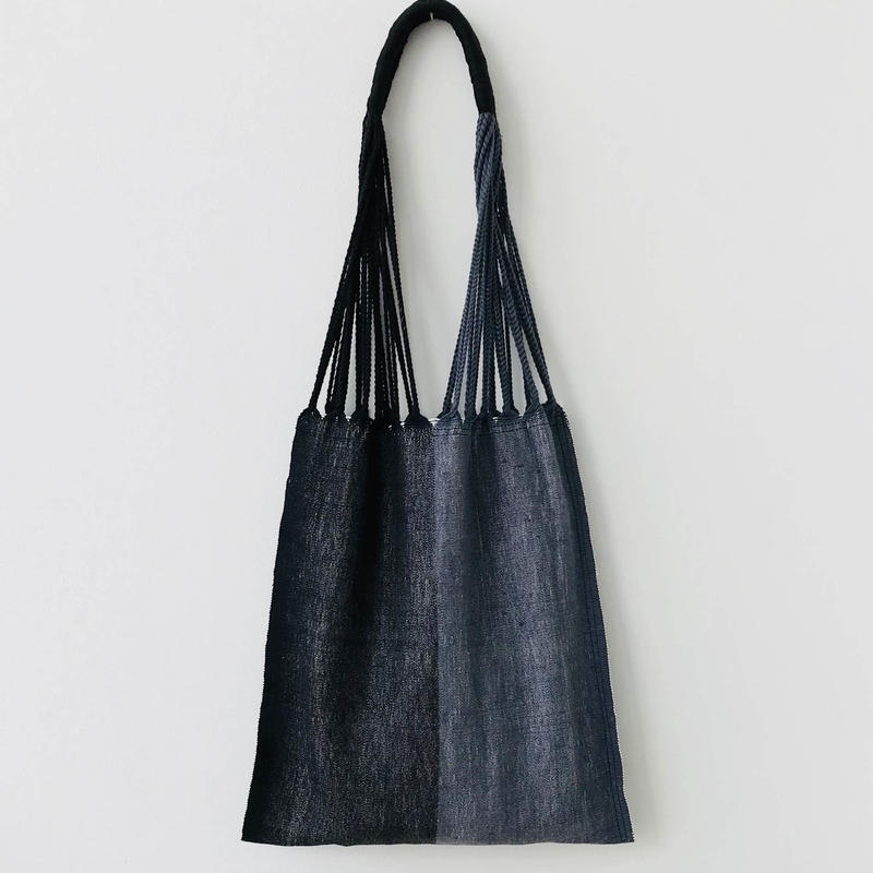 pips / cotton handwoven hammock bag / black /gray / ピップス / コットン ハンモックバッグ