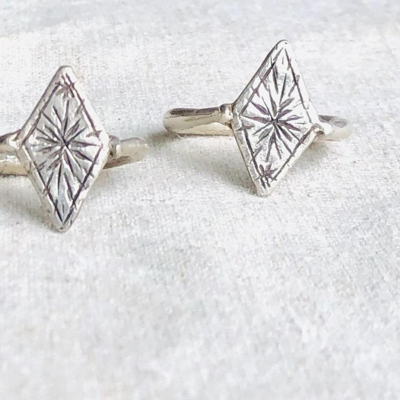 datter industry / starty diamond  ring  / silver / ダッターインダストリー /シルバーリング