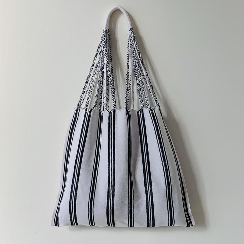 pips / cotton handwoven hammock bag / white / ピップス /ハンモックバッグ