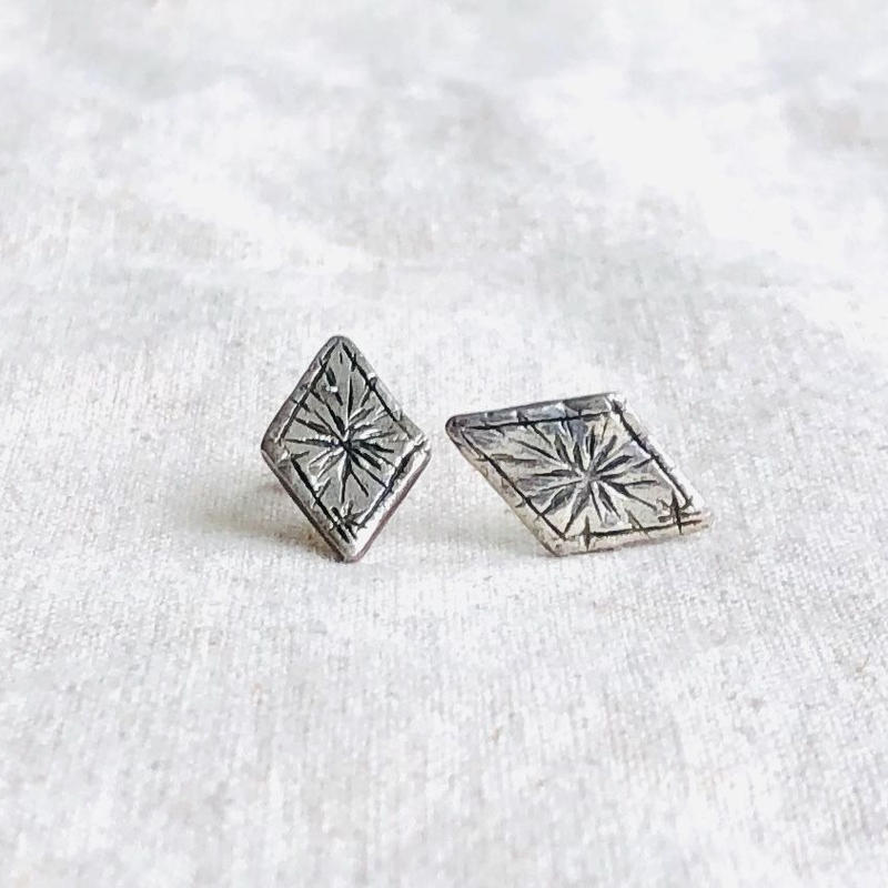 datter industry / starry diamond studs / silver / ダッターインダストリー / シルバーピアス