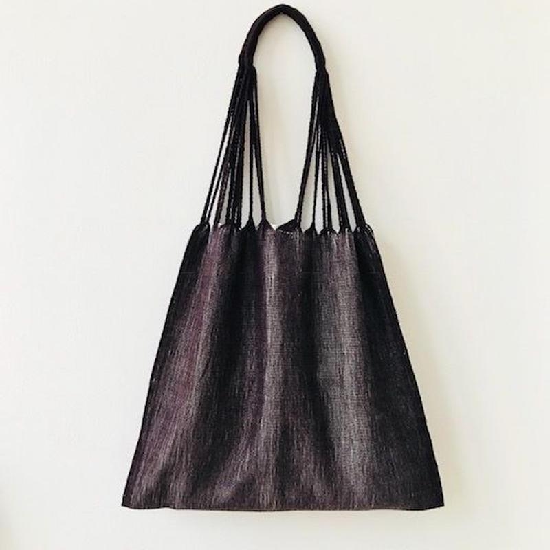 pips / cotton hand woven  hammock bag/ brown x natural  / ピップス / コットン ハンモックバッグ